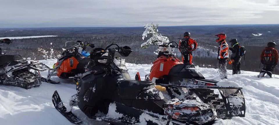 snowmobile in upper michigan